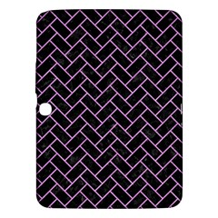 Brick2 Black Marble & Purple Colored Pencil (r) Samsung Galaxy Tab 3 (10 1 ) P5200 Hardshell Case  by trendistuff