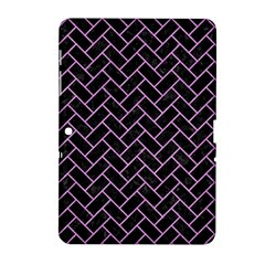 Brick2 Black Marble & Purple Colored Pencil (r) Samsung Galaxy Tab 2 (10 1 ) P5100 Hardshell Case  by trendistuff