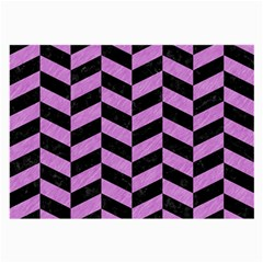 Chevron1 Black Marble & Purple Colored Pencil Large Glasses Cloth by trendistuff