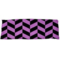 Chevron1 Black Marble & Purple Colored Pencil Body Pillow Case Dakimakura (two Sides) by trendistuff