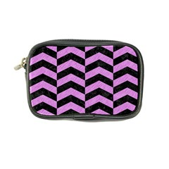 Chevron2 Black Marble & Purple Colored Pencil Coin Purse by trendistuff