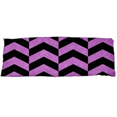 Chevron2 Black Marble & Purple Colored Pencil Body Pillow Case Dakimakura (two Sides) by trendistuff