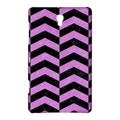 Chevron2 Black Marble & Purple Colored Pencil Samsung Galaxy Tab S (8 4 ) Hardshell Case  by trendistuff