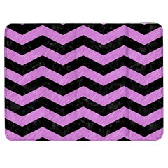 Chevron3 Black Marble & Purple Colored Pencil Samsung Galaxy Tab 7  P1000 Flip Case by trendistuff