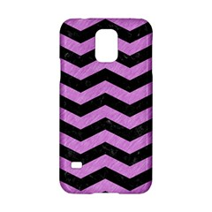 Chevron3 Black Marble & Purple Colored Pencil Samsung Galaxy S5 Hardshell Case  by trendistuff