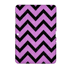 Chevron9 Black Marble & Purple Colored Pencil Samsung Galaxy Tab 2 (10 1 ) P5100 Hardshell Case  by trendistuff