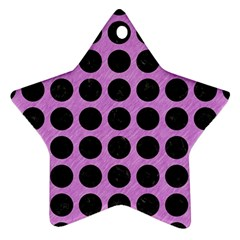 Circles1 Black Marble & Purple Colored Pencil Ornament (star) by trendistuff