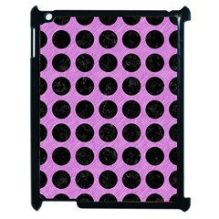Circles1 Black Marble & Purple Colored Pencil Apple Ipad 2 Case (black) by trendistuff