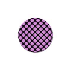 Circles2 Black Marble & Purple Colored Pencil (r) Golf Ball Marker (10 Pack) by trendistuff