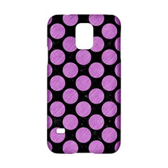 Circles2 Black Marble & Purple Colored Pencil (r) Samsung Galaxy S5 Hardshell Case  by trendistuff