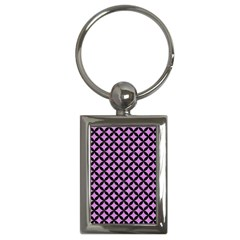 Circles3 Black Marble & Purple Colored Pencil Key Chains (rectangle)  by trendistuff