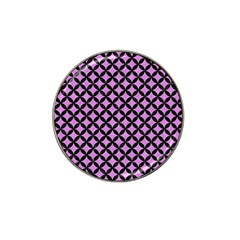 Circles3 Black Marble & Purple Colored Pencil Hat Clip Ball Marker by trendistuff