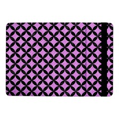 Circles3 Black Marble & Purple Colored Pencil Samsung Galaxy Tab Pro 10 1  Flip Case