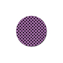 Circles3 Black Marble & Purple Colored Pencil (r) Golf Ball Marker (10 Pack) by trendistuff