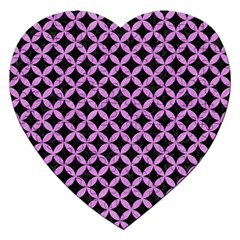 Circles3 Black Marble & Purple Colored Pencil (r) Jigsaw Puzzle (heart) by trendistuff