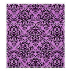 Damask1 Black Marble & Purple Colored Pencil Shower Curtain 66  X 72  (large)  by trendistuff