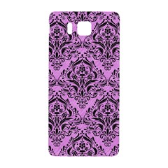 Damask1 Black Marble & Purple Colored Pencil Samsung Galaxy Alpha Hardshell Back Case by trendistuff