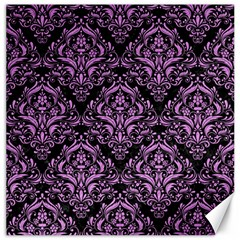 Damask1 Black Marble & Purple Colored Pencil (r) Canvas 20  X 20   by trendistuff