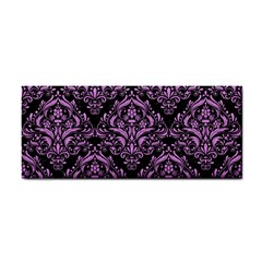 Damask1 Black Marble & Purple Colored Pencil (r) Cosmetic Storage Cases by trendistuff