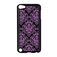Damask1 Black Marble & Purple Colored Pencil (r) Apple Ipod Touch 5 Case (black) by trendistuff