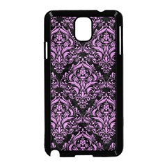 Damask1 Black Marble & Purple Colored Pencil (r) Samsung Galaxy Note 3 Neo Hardshell Case (black) by trendistuff