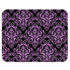 Damask1 Black Marble & Purple Colored Pencil (r) Double Sided Flano Blanket (medium)  by trendistuff