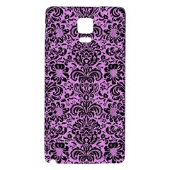 Damask2 Black Marble & Purple Colored Pencil Galaxy Note 4 Back Case by trendistuff