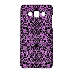 Damask2 Black Marble & Purple Colored Pencil Samsung Galaxy A5 Hardshell Case  by trendistuff