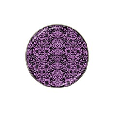 Damask2 Black Marble & Purple Colored Pencil (r) Hat Clip Ball Marker (10 Pack) by trendistuff
