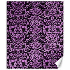 Damask2 Black Marble & Purple Colored Pencil (r) Canvas 8  X 10  by trendistuff