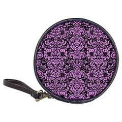 Damask2 Black Marble & Purple Colored Pencil (r) Classic 20 Cd Wallets by trendistuff