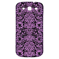 Damask2 Black Marble & Purple Colored Pencil (r) Samsung Galaxy S3 S Iii Classic Hardshell Back Case by trendistuff