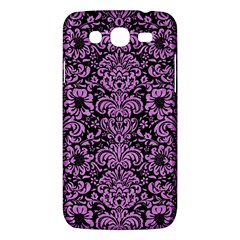 Damask2 Black Marble & Purple Colored Pencil (r) Samsung Galaxy Mega 5 8 I9152 Hardshell Case  by trendistuff