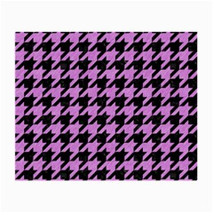 Houndstooth1 Black Marble & Purple Colored Pencil Small Glasses Cloth by trendistuff