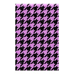 Houndstooth1 Black Marble & Purple Colored Pencil Shower Curtain 48  X 72  (small)  by trendistuff