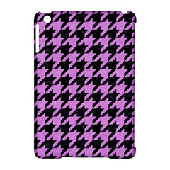 Houndstooth1 Black Marble & Purple Colored Pencil Apple Ipad Mini Hardshell Case (compatible With Smart Cover) by trendistuff