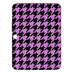 Houndstooth1 Black Marble & Purple Colored Pencil Samsung Galaxy Tab 3 (10 1 ) P5200 Hardshell Case  by trendistuff