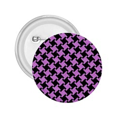 Houndstooth2 Black Marble & Purple Colored Pencil 2 25  Buttons by trendistuff