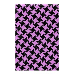 Houndstooth2 Black Marble & Purple Colored Pencil Shower Curtain 48  X 72  (small)  by trendistuff
