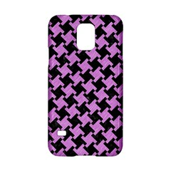Houndstooth2 Black Marble & Purple Colored Pencil Samsung Galaxy S5 Hardshell Case  by trendistuff