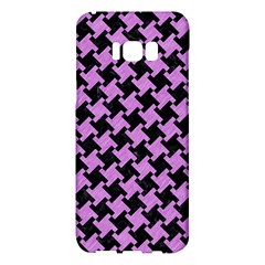 Houndstooth2 Black Marble & Purple Colored Pencil Samsung Galaxy S8 Plus Hardshell Case  by trendistuff