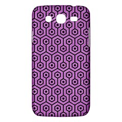 Hexagon1 Black Marble & Purple Colored Pencil Samsung Galaxy Mega 5 8 I9152 Hardshell Case  by trendistuff