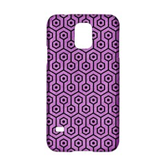 Hexagon1 Black Marble & Purple Colored Pencil Samsung Galaxy S5 Hardshell Case  by trendistuff