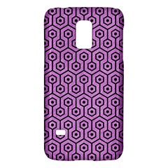 Hexagon1 Black Marble & Purple Colored Pencil Galaxy S5 Mini by trendistuff