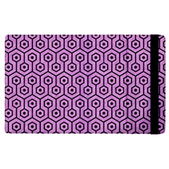 Hexagon1 Black Marble & Purple Colored Pencil Apple Ipad Pro 12 9   Flip Case by trendistuff