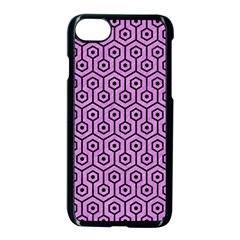 Hexagon1 Black Marble & Purple Colored Pencil Apple Iphone 7 Seamless Case (black) by trendistuff