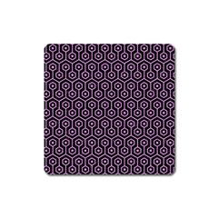 Hexagon1 Black Marble & Purple Colored Pencil (r) Square Magnet by trendistuff