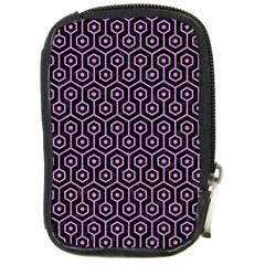 Hexagon1 Black Marble & Purple Colored Pencil (r) Compact Camera Cases by trendistuff