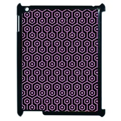 Hexagon1 Black Marble & Purple Colored Pencil (r) Apple Ipad 2 Case (black) by trendistuff