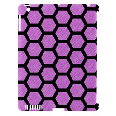 Hexagon2 Black Marble & Purple Colored Pencil Apple Ipad 3/4 Hardshell Case (compatible With Smart Cover) by trendistuff